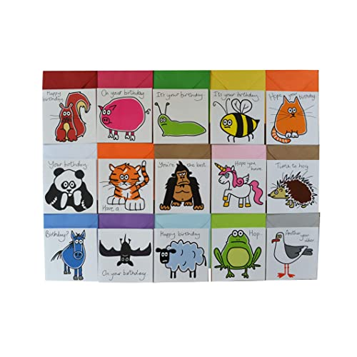15 X Animal Birthday Cards BUMPER Card Pack