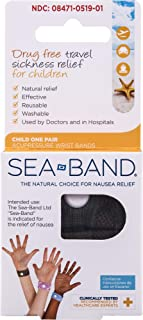 Sea-Band Wristband, Child, Colors May Vary, 1 Pair, Anti-Nausea Acupressure Motion or Morning Sickness