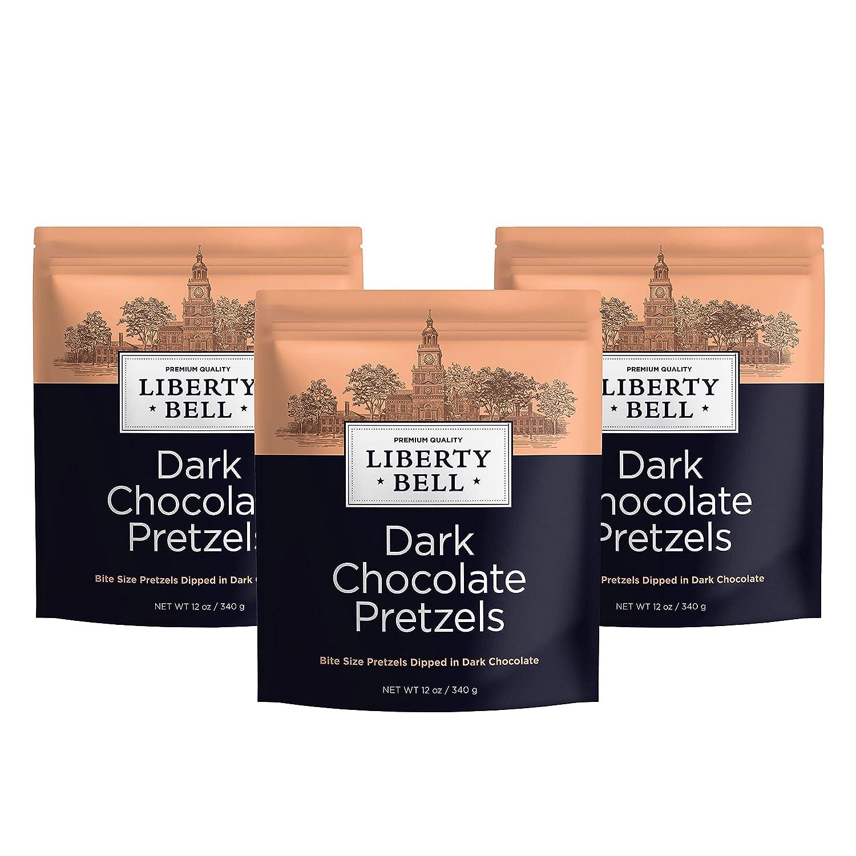 Liberty Bell Dark Bombing new work mart Chocolate Dipp Covered Pretzels Mini