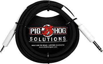Pig Hog PX48J10 1/4 TRS to 3.5mm Mini Instrument Cable, 10 Feet