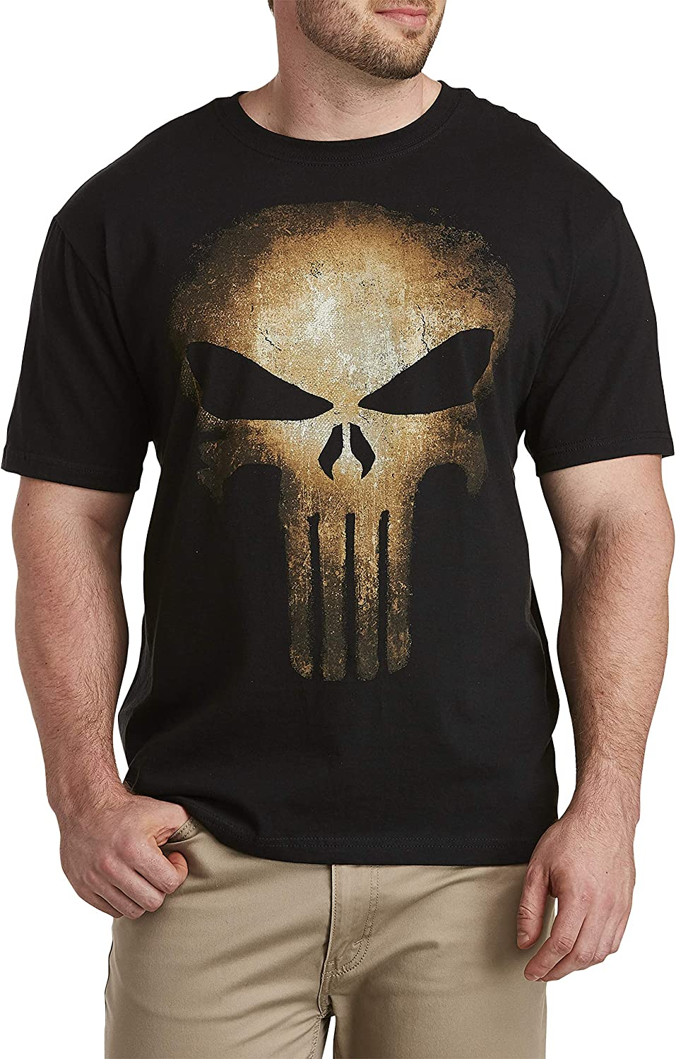 True Nation by DXL OFFicial Big and Black Aged Punisher Tall Graphic Tee Easy-to-use