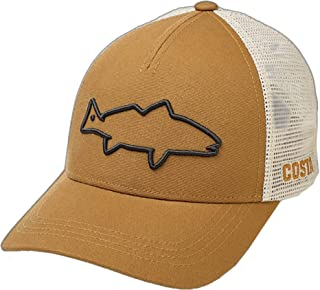 Costa Del Mar Stealth Redfish Trucker Hat-Working Brown
