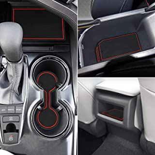 Marchfa Door Liner Cup Holder Interior Mats Custom Fit for Toyota Camry 2018 2019, Door Accessories Cup Holder Inserts (16 PCS) (Red)