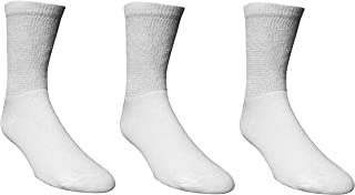 3 Pairs of King Size Extra Wide Socks size 12-18 White, Non-Binding and Seamless Toe for Sensitive Tired and Achy feet
