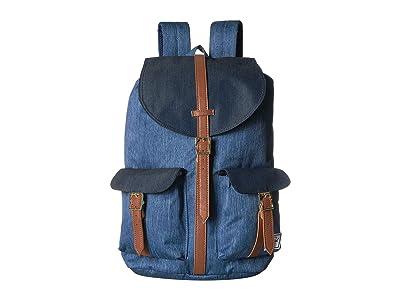 Herschel Supply Co. Dawson (Faded Denim/Indigo Denim) Backpack Bags