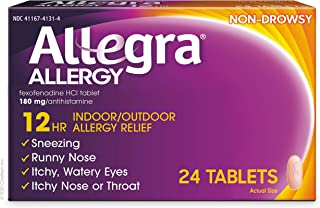 Sponsored Ad - Allegra Adult Non-Drowsy Antihistamine Tablets for 12-Hour Allergy Relief, 60 mg 24 Count