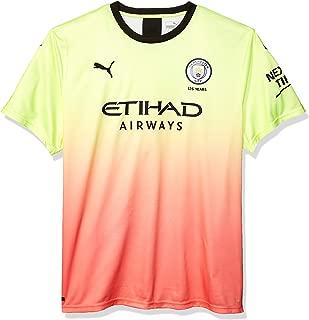 PUMA Men's Manchester City MCFC Shirt Replica with Sponsor Logo
