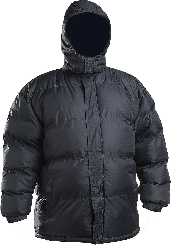 Lion Force Mens' Warm Puffer Coat Heavy Winter Jacket Removable Hood Polar Fleece Lining
