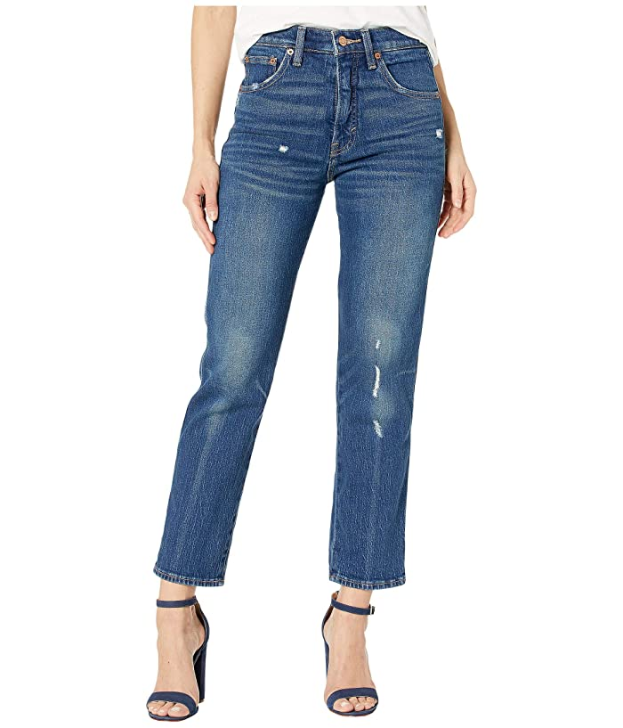 Lucky Brand  Authentic Straight Crop Jeans in Broome Street Destruct (Broome Street Destruct) Womens Jeans
