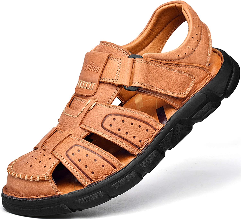 割引も実施中 Men's Sport Sandals Closed Toe Outdoor 祝開店大放出セール開催中 Handmade Leather A Sandal