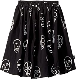 Nununu - Skull Mask Balloon Skirt (Little Kids/Big Kids)