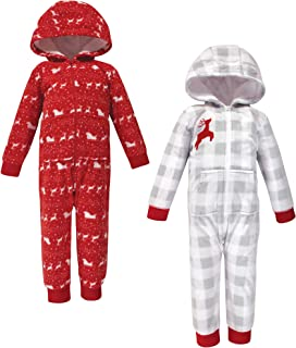 Hudson Baby Girls' Unisex Baby and Toddler Fleece Jumpsuits and Coveralls