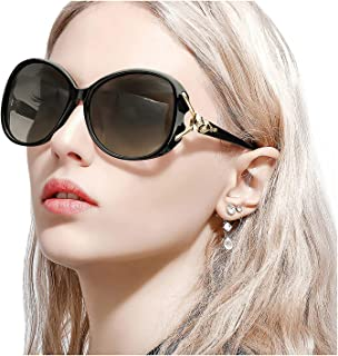 Classic Oversized Sunglasses for Women Polarized 100% UV400 Protection Lenses Ladies..