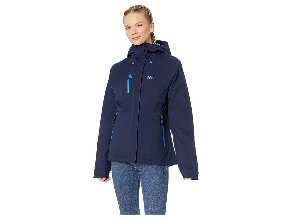 Jack Wolfskin Troposphere Waterproof Down Jacket (Midnight Blue) Women