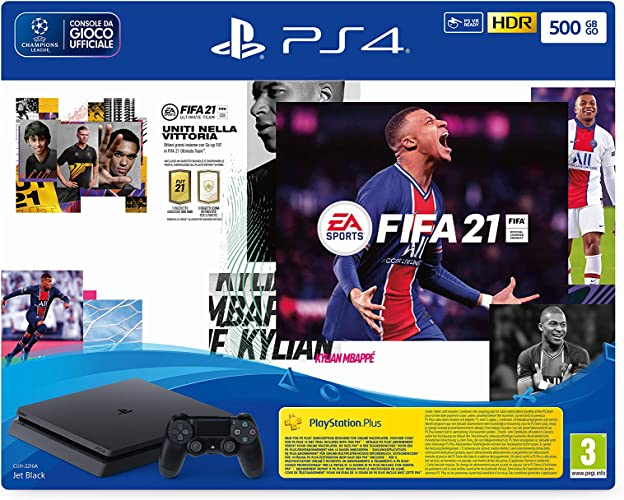 Sony  playstation 4 slim 500gb+fifa21+fut 21 promo code IN-DT--711719828228