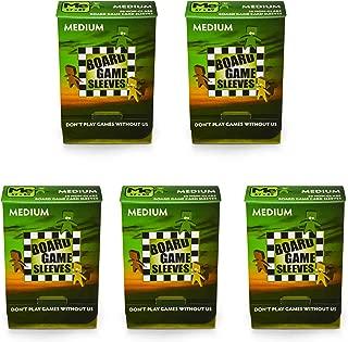 5 Packs Arcane Tinmen Non-Glare Board Game Sleeves 50 ct Medium Size Card Sleeves Value Bundle!
