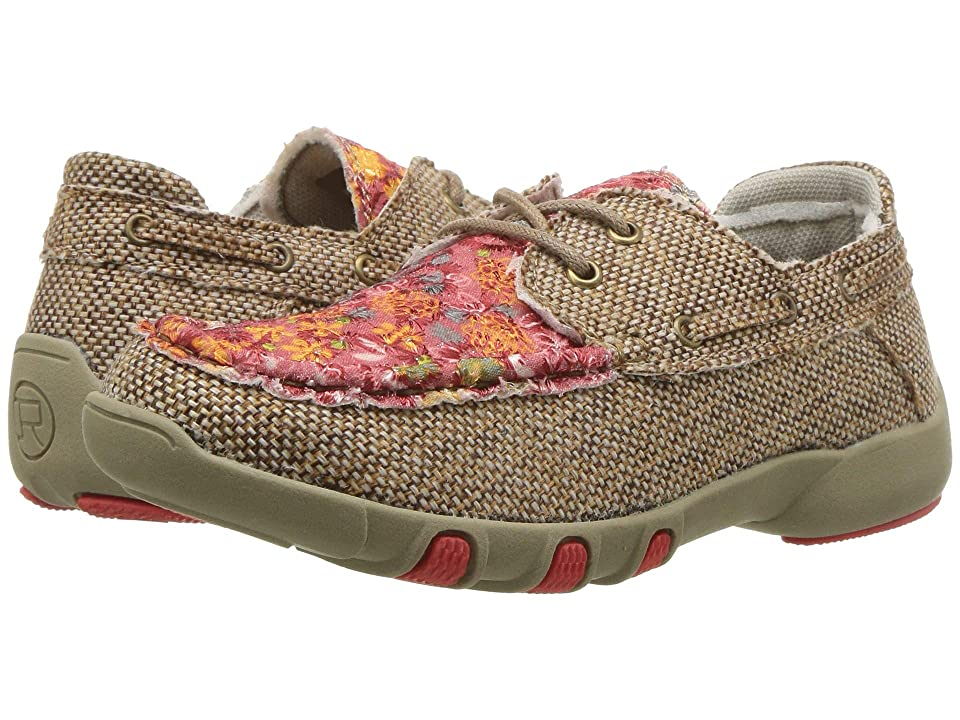 Roper Kids Chase Lace-Up (Toddler/Little Kid) (Multicolored Floral Fabric w/ Sequins) Girl