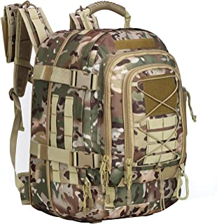 ARMYCAMOUSA 40L - 64 L Outdoor 3 Day Expandable Tactical Backpack Military Sport Camping Hiking Trekking Bag School Travel Gym Carrier