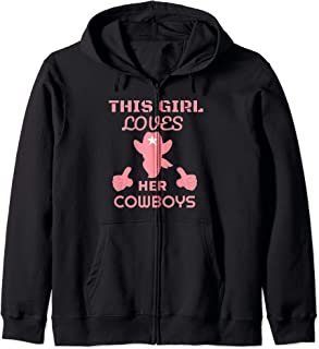 this girl loves her cowboys hoodie