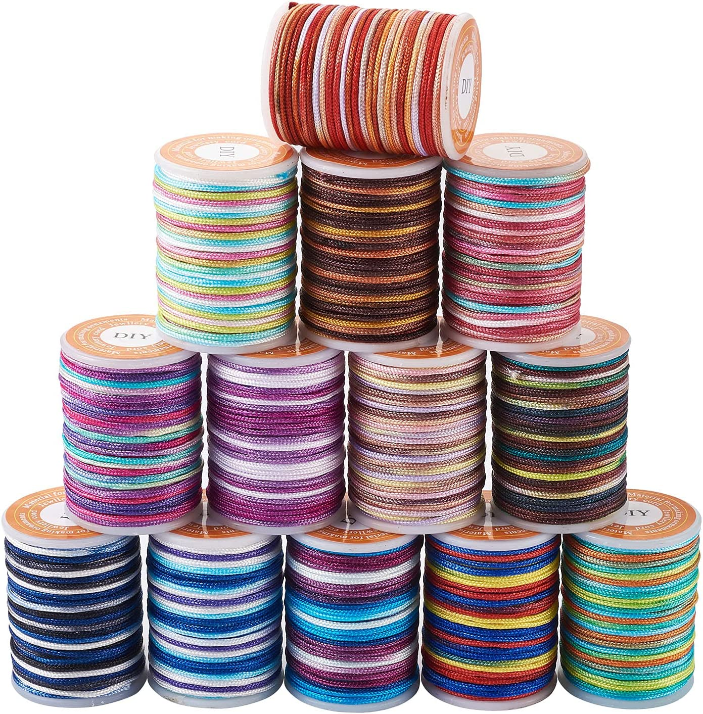 100 Yards Rainbow Color Polyester Cord Dyed 1 year warranty 13 Ranking TOP15 Threads Br Colors