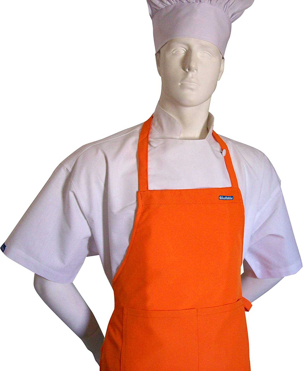 Tangy Orange Color Apron Teens OFFicial site CHEFSKIN for Rare From