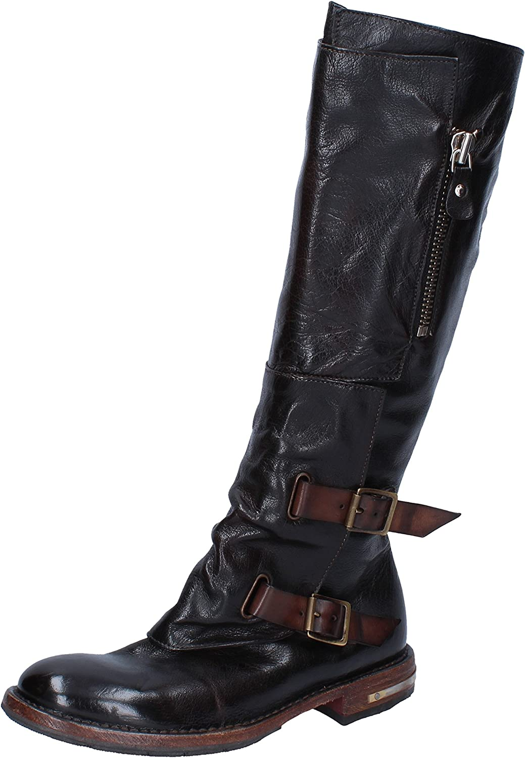 MOMA Boots Womens Leather Brown