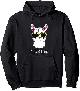 Sunglasses Llama No Drama Hoodie Pullover Cool Lllama Stuff