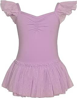 DanzNmotion by Danshuz Girl's Camisole Flutter Sleeve Dress