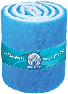 Koral Filters Aquarium Filter Pad Media Roll – Dye-Free and Blue Bonded – Cut..