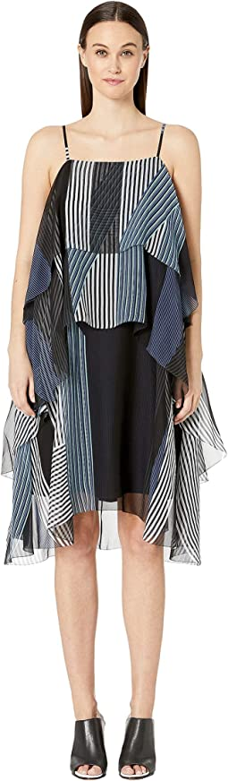 Collage Stripe Print Layer Dress