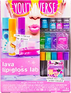 Youniverse Create Your Own Lava Lip Gloss Lab Craft Kit by Horizon Group USA, DIY 5 Lip Glosses, Mix & Create Compounds for Cosmetics, Assorted