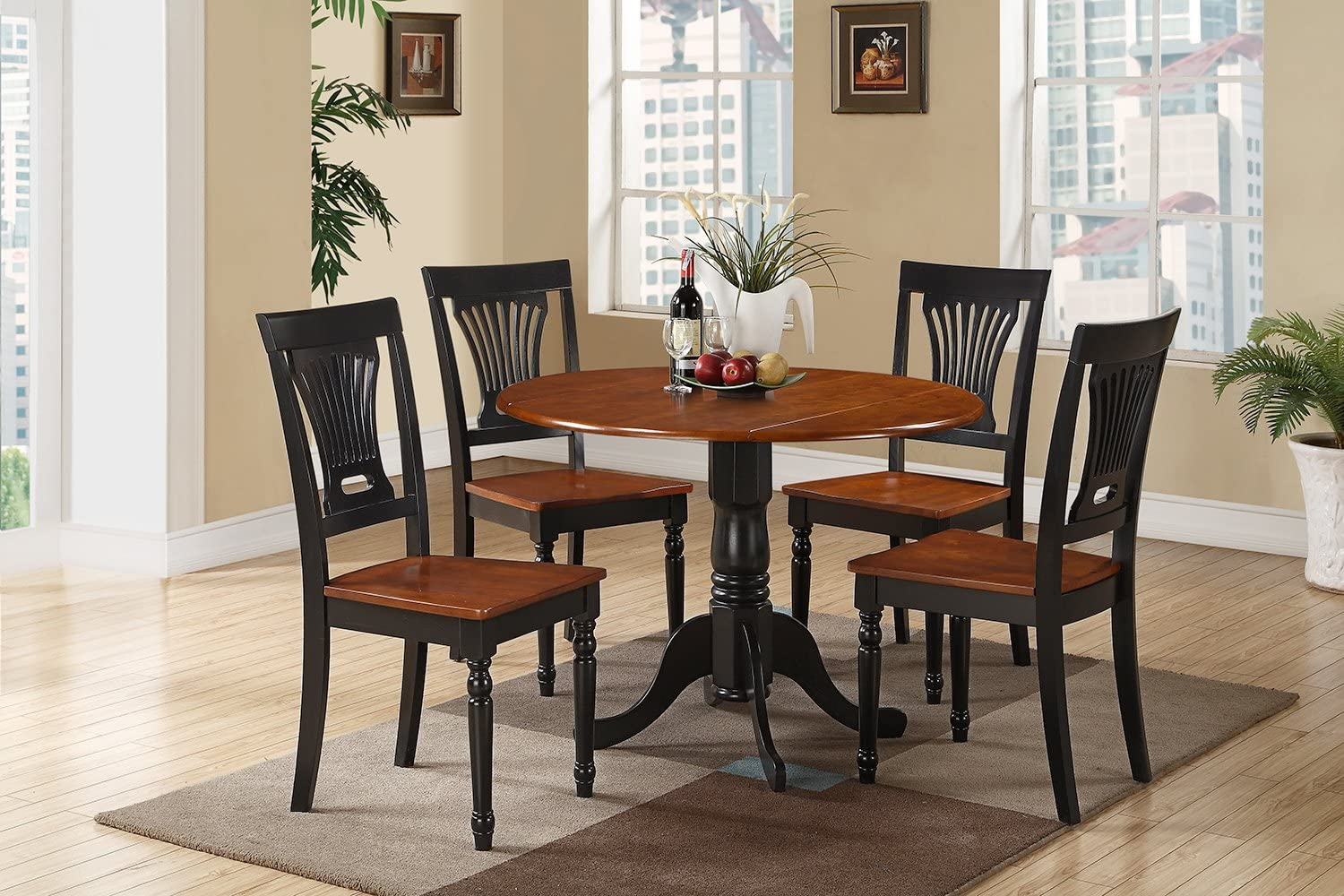 9 Pc small Kitchen Table and Chairs set Table and 9 dinette Chairs