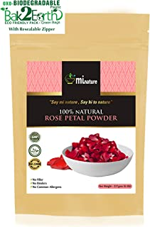 Rose Petal Powder - Hair & Skincare-Pure Natural Rejuvenating Moisturising Antiageing Cooling Face Mask Skin Lightener Brightener Even Tone Complexion - 227g / 1/2 lbs / 8 oz, Eco Friendly Pack