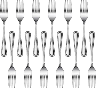 New Star Foodservice 58468 Bead Pattern, Stainless Steel, Dinner Fork, Set of 12