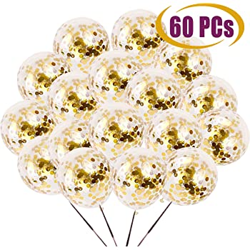anniversary wedding Large Latex Party Balloons for men /& women proposal bachelorette Premium 18 inch Gold Confetti Balloons baby shower 1st birthday Perfect gold party decorations for birthday