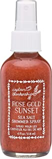 Captain Blankenship Rose Gold Sunset Sea Salt Shimmer Hair Spray with Natural Mica, Texturizing and Volumizing, Organic, Paraben Free, 4 Ounce Spray Bottle, 1 Count