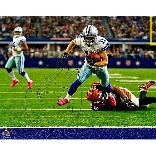 1587cdfc908 Cole Beasley Autographed Picture - Fanatics 8x10 Jump 136492 - Fanatics  Authentic Certified - Autographed NFL