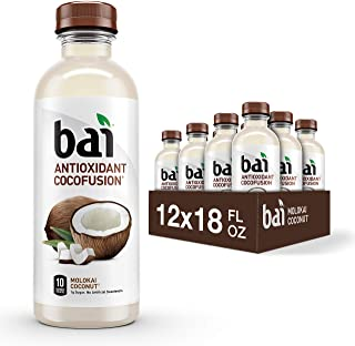 Bai Coconut Flavored Water, Molokai Coconut, Antioxidant Infused Drinks, 18 Fluid Ounce..