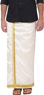 Sethukrishna Men's Art Silk Readymade Stick-on Dhoti with Pocket Prime Exclusive
