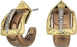 Alexis Bittar Small Buckle Hoop Earrings