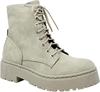 Shoes Women's Ankle Combat Military Lace-Up Fashion Boots