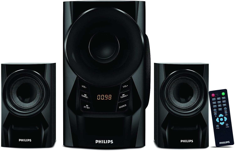 Philips Audios IN-MMS6080B/94 2.1 Channel Multimedia Speakers