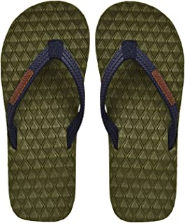 Electra Kids Olive&Navy Color Thong-Style Slippers/Flip Flops