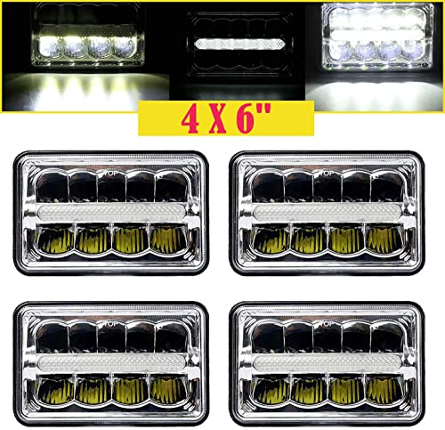 wholesale 4x6'' LED Sealed Beam Headlight High Low Beam Day Running outlet sale Light wholesale H4651 H4652 H4656 H4666 H6545 Compatible with Peterbilt Kenworth Freightliner Truck, 2 Year Warranty online sale