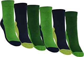 OCERA, 6 pares de calcetines térmicos para hombre y mujer con banda elástica en el metatarso