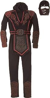 Rubie's Red Skull Warrior Ninja Child Costume, Large, Black/Red