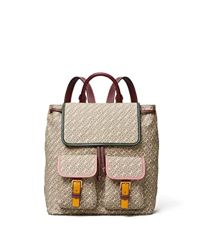 Tory Burch Perry Jacquard Flap Backpack (Gemini Jacquard) Backpack Bags