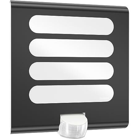 Steinel Applique murale L 224 LED anthracite, luminaire d'extérieur 7.5 W, détecteur de mouvement 180° orientable