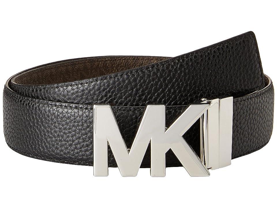 MICHAEL Michael Kors - MICHAEL Michael Kors 38mm Reversible Pebble to Logo Belt on MK Plaque Buckle