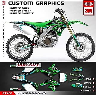Kungfu Graphics Custom Decal Kit for 2007 2008 Kawasaki KXF250 KX250F KX 250F, KW2F0608006-KO
